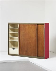 Wardrobe/room divider, from the Unité d'habitation, Marseille, France, Designed by Le Corbusier, 1946-1952
