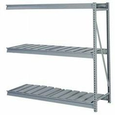 "Bulk Storage Rack Add-On, 3 Tier, Ribbed Decking, 72""Wx36""Dx84""H Blue by LYON WORKSPACE PRODUCTS. $404.95. Bulk Storage Rack Add-On, 3 Tier, Ribbed Decking, 72""Wx36""Dx84""H Blue Heavy gauge steel uprights and beams. Adjustable on 1-1/2"" centers. 1650-3300 lbs. capacity per pair of beams. Weight Capacity based on evenly distributed load. 10,000 lbs. per upright assembly."