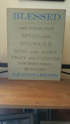 Handmade wooden signs  Grandparent signs