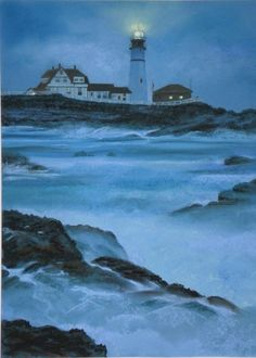 Portland Head Lighthouse  Sherrie Kostura - Pastel