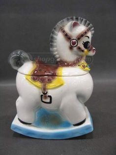 Vintage Rocking Horse Cookie Jar made in USA by Gilner