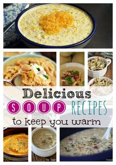 These 8 delicious Soup Comfort Food Recipes will warm you up during this long winter season. Simple recipes ideas that can be made in the slow cooker too.