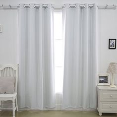 """Deconovo® Grommet Winter Blackout Curtain Double Layer Composited Fleece Thermal Insulated For Bedroom 52"""" x 63""""-1 Pair, Grey White Deconovo http://www.amazon.com/dp/B014F6OJ38/ref=cm_sw_r_pi_dp_TA4mwb172JKVN"""