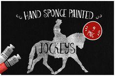 Sponge Painted Jockeys by Kaazuclip on @creativemarket