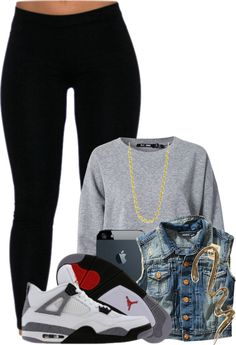 """no school"" by popitfoedaddy ❤ liked on Polyvore"