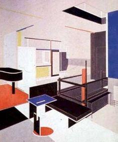 De Stijl (1924) Gerrit Rietveld - Schroeder House - Extérieur matériel / Intérieur Psychologique
