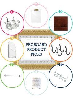 Pegboard accessories