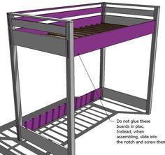 Ana White Build a How to Build a Loft Bed Free and Easy DIY - Make a corner desk Loft Bed Desk, Build A Loft Bed, Loft Bed Plans, Murphy Bed Plans, Ana White, Furniture Plans, Diy Furniture, Furniture Design, Murphy-bett Ikea