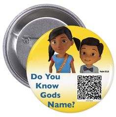 """JW.ORG buttons. """"Do you know Gods Name?"""" With QR code by Tiagoscustom on Etsy https://www.etsy.com/listing/478323555/jworg-buttons-do-you-know-gods-name-with"""