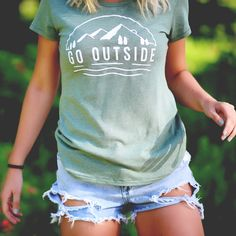 GO OUTSIDE CLASSIC FIT TEE