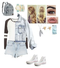 """Casual"" by ubertastic101 on Polyvore featuring Superdry, Alexander Wang, Converse, Hollister Co., A.X.N.Y., Nina B, Casetify and Rachel Jackson"