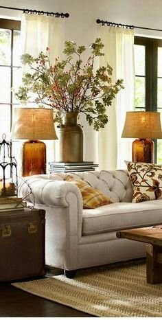 lamps and sofa