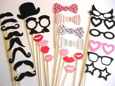 Best Photo Booth Props - 28 piece set with GLITTER - Birthday Photobooth Props Our Wedding, Dream Wedding, Diy Party, Party Ideas, Party Crafts, Party Fun, Photo Booth Props, Photo Booths, Romantic Weddings