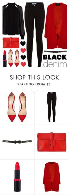 """""""In Love with Black Jeans"""" by lgb321 ❤ liked on Polyvore featuring Gianvito Rossi, Miss Selfridge, Hermès, Derek Lam, Karen Millen, women's clothing, women's fashion, women, female and woman"""