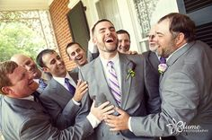A happy, handsome group of groomsmen | Blume Photography
