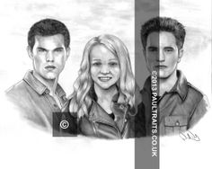 Jacob, Ellie, and Edward, star in the movie Twilight.  I like adaptations, combinations and edits, fun commissions!