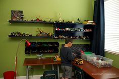 Cheap & Easy LEGO Storage Organizer - Happiness is Homemade**The boys room***