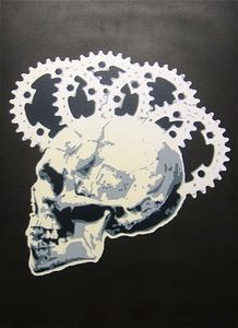 COGnative Thinking Bike Art Poster