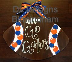 Florida Gators football door hanger. Probably couldn't get away with hanging this up ;)