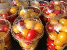 Colourful snack packs [biodegradable too!] at the Abergavenny Food Festival #cherry #plum #tomatoes #healthy #snack #fun #fresh #tasty #good