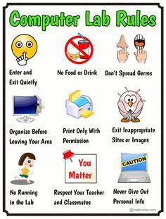 Computer Lab Rules - The Essentials in Pictures