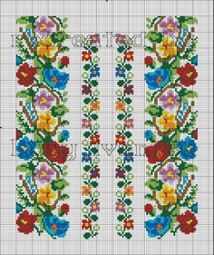 F Cross Stitch Bookmarks, Cross Stitch Borders, Cross Stitch Flowers, Cross Stitch Charts, Cross Stitch Designs, Cross Stitching, Cross Stitch Patterns, Folk Embroidery, Cross Stitch Embroidery