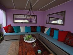 Indoor/Outdoor Sofa - Outdoor Lounging Spaces: Daybeds, Hammocks, Canopies and More on HGTV