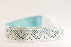 flax & twine: Day 12: A Lace Headband - a diy hair accessory