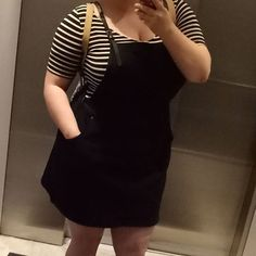 WEBSTA @ courtceratops - I could wear my new pinafore dress from #citychic every day.  #cuteandcomfy#citychiconline #plussize #dress #ootd #pinaforedress #pinafore #outfit #curvyfashion #curvy #ootdplus #dress #honormycurves #curvy #plussizestyle #psootd #effyourbeautystandards #plusisequal #plusisamust #plus_isamust #fashion #insidethedressingroom #plussizefashion #fullfigured #fullfiguredfashion #fashiongram #clothes #newclothes #stripes #patterns #fashionforwardplus