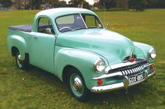 The first Australian car produced in volume was the Holden commonly referred to as the FX and was essentially a scaled down version of General. Vintage Luggage, Vintage Travel, Vintage Cars, Antique Cars, Australian Ute, Holden Australia, Big Girl Toys, Aussie Muscle Cars, Panel Truck