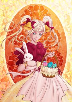 """""""Easter"""" - Illustration from #rosalys at www.rosalys.net - work licensed under Creative Commons Attribution-Noncommercial"""