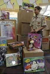 Alex Hurrell has dropped off more than 1,000 toys to Advocate Lutheran General Hospital as part of his Eagle Scout project.