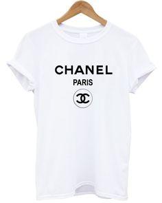 Chanel t shirt tee shirt rihanna tour comme hype ysl geek tee celine paris