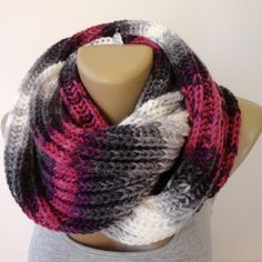 infinity scarf ,unisex scarf ,winter fashion scarf ,knitted chunky scarves winter scarf accessories for her for him senoAccessory by senoAccessory on Etsy