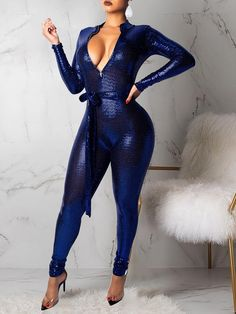 Glittering Plunge Belted Slinky Jumpsuit size jumpsuit wedding online shopping size jumpsuit wedding guest tight one piece tight outfit style piece jumpsuit tight outfit tight clothing tight formal tight casual tight street styles Curvy Outfits, Sexy Outfits, Fall Outfits, Fashion Outfits, Womens Fashion, Short Women Fashion, Cheap Fashion, Fashion Clothes, Latest Fashion
