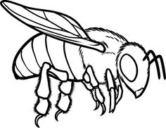 Bee coloring pages flying