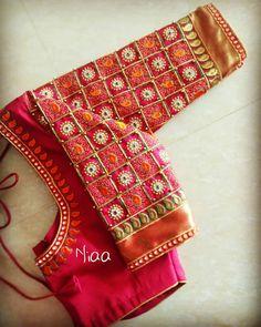 """Niaa_boutique on Instagram: """"#handembroidery #aariwork #zardoziwork #bridalstories #designerblouses #embroideryblouse #handembroidery #sareelove #saree…"""""""