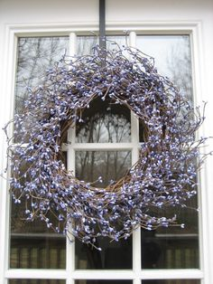 Lovely Lavender Berry Wreath for Spring, Summer, Mother's Day.... $55,00, via Etsy.