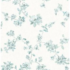 House of Hampton With a classic look of China, this teal and eggshell floral wallpaper is truly beautiful. Its watercolor effect gives it a delicate hand-painted look. Wallpaper roll is a prepasted, non-woven wallpaper. Teal Wallpaper Samples, Blush Wallpaper, Embossed Wallpaper, Wallpaper Roll, Wall Wallpaper, Wallpaper Ideas, Teal Wallpaper Iphone, Iphone Wallpapers, Pattern Wallpaper