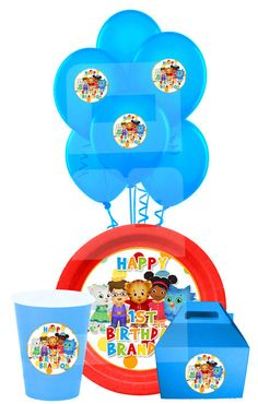 Daniel Tiger Party Pack Daniel Tiger Plate/Cup by lovebuggydesigns
