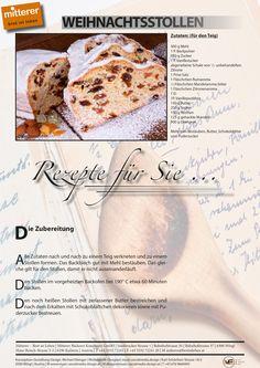 Passend zur Jahreszeit unser aktuelles Rezept: Weihnachtsstollen | Mitterer – Brot ist Leben