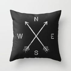 Compass Throw Pillow