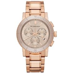 Shop women's rose-gold and gold steel swiss chronograph watch bangle bracelet by designer fashion brand Burberry listed under bracelet, jewelry, watch and accessory. Burberry Watch, Burberry Women, Gold Cost, Rolex Women, Shops, Rose Gold Watches, Cool Watches, Cheap Watches, Fine Watches
