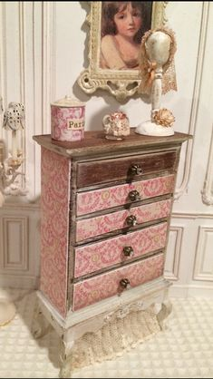 Miniature in 1:12th scale; Ladies Dresser Drawers by VintageChicMiniature