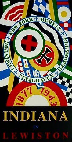 Indiana in Lewiston, Ltd Ed Silk-Screen