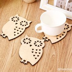 Owl Leather Coaster Set - Pesquisa Google