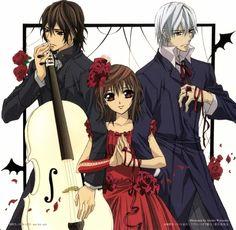 Vampire Knight Kaname , Yuki and Zero.