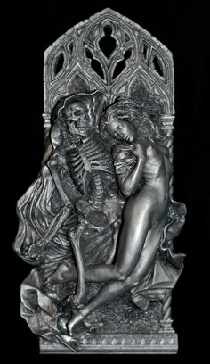 Death and the Maiden, wall plaque, in pewter, by Dellamorte & Co.