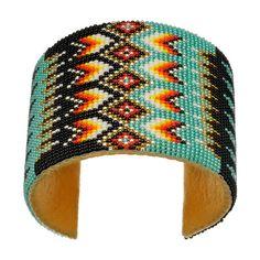 Bracelet Sioux en perles de rocailles multicolores tissées Taille reglable | Harpo Paris