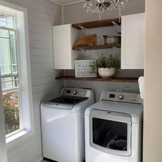 Farmhouse Laundry Room Makeover (Before & After) Remodeling Mobile Homes, Home Remodeling, Modern Farmhouse Bathroom, Farmhouse Laundry Rooms, Farmhouse Decor, Farmhouse Remodel, Farmhouse Table, Country Decor, Makeover Before And After